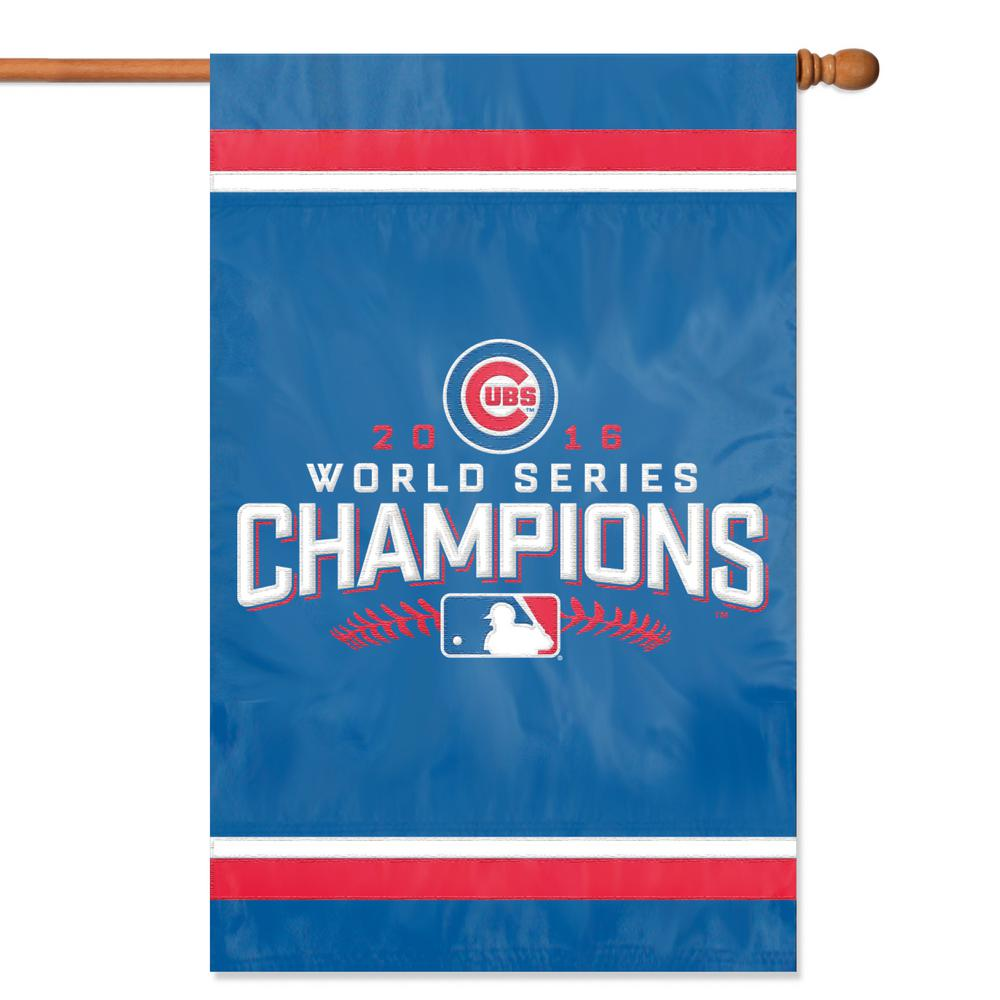Chicago Cubs Champs Applique Banner Flag