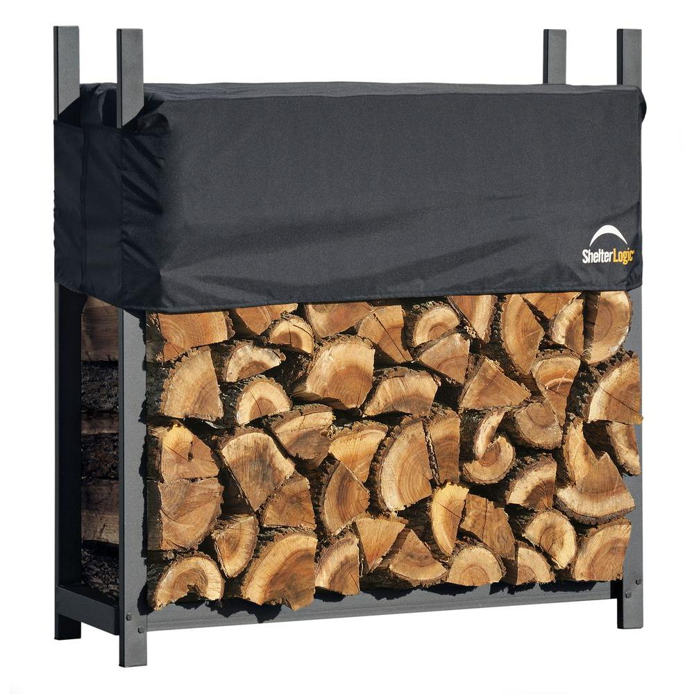 ShelterLogic 4 ft. Ultra Duty Firewood Rack with Cover