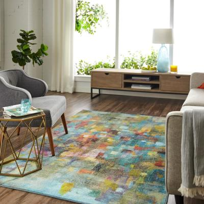 Confetti Canvas Multi 8 ft. x 10 ft. Abstract Area Rug