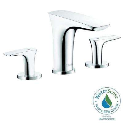 PuraVida 8 in. Widespread 2-Handle Low-Arc Bathroom Faucet in Chrome
