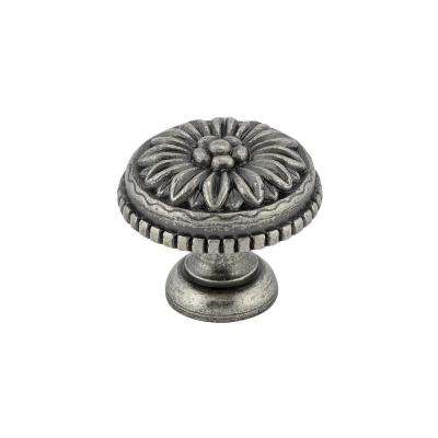 Traditional 1-3/16 in. (30 mm) Pewter Round Cabinet Knob