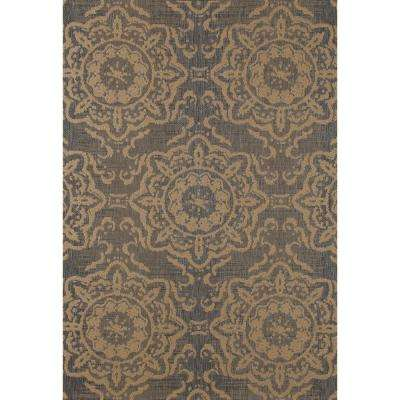 Plymouth Refreshing Gray 8 ft. x 11 ft. Indoor/Outdoor Area Rug