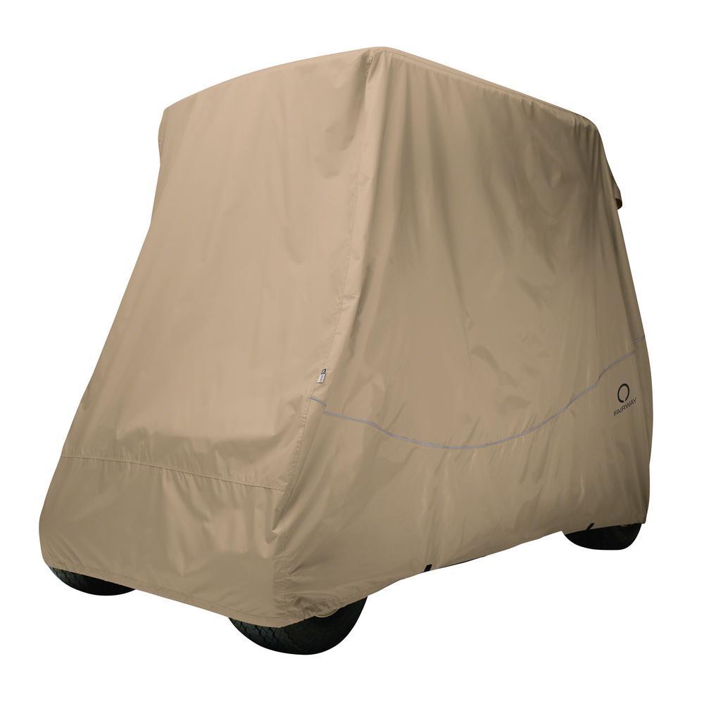 Fairway Short Roof Golf Car Quick-Fit Cover Khaki