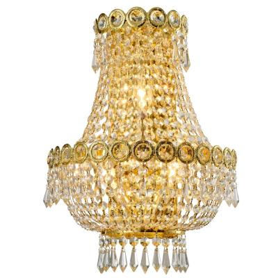 Empire 12 in. Gold Crystal Wall Sconce