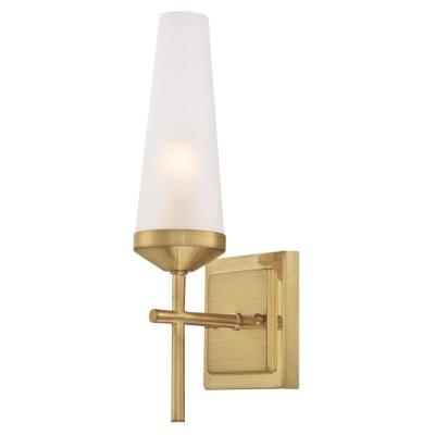 Prosecco 1-Light Champagne Brass Wall Mount Sconce