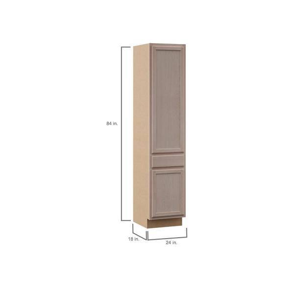 Hampton Bay Hampton Assembled 24x84x18 In Pantry Kitchen Cabinet In Unfinished Beech Kpdr2484 Uf The Home Depot