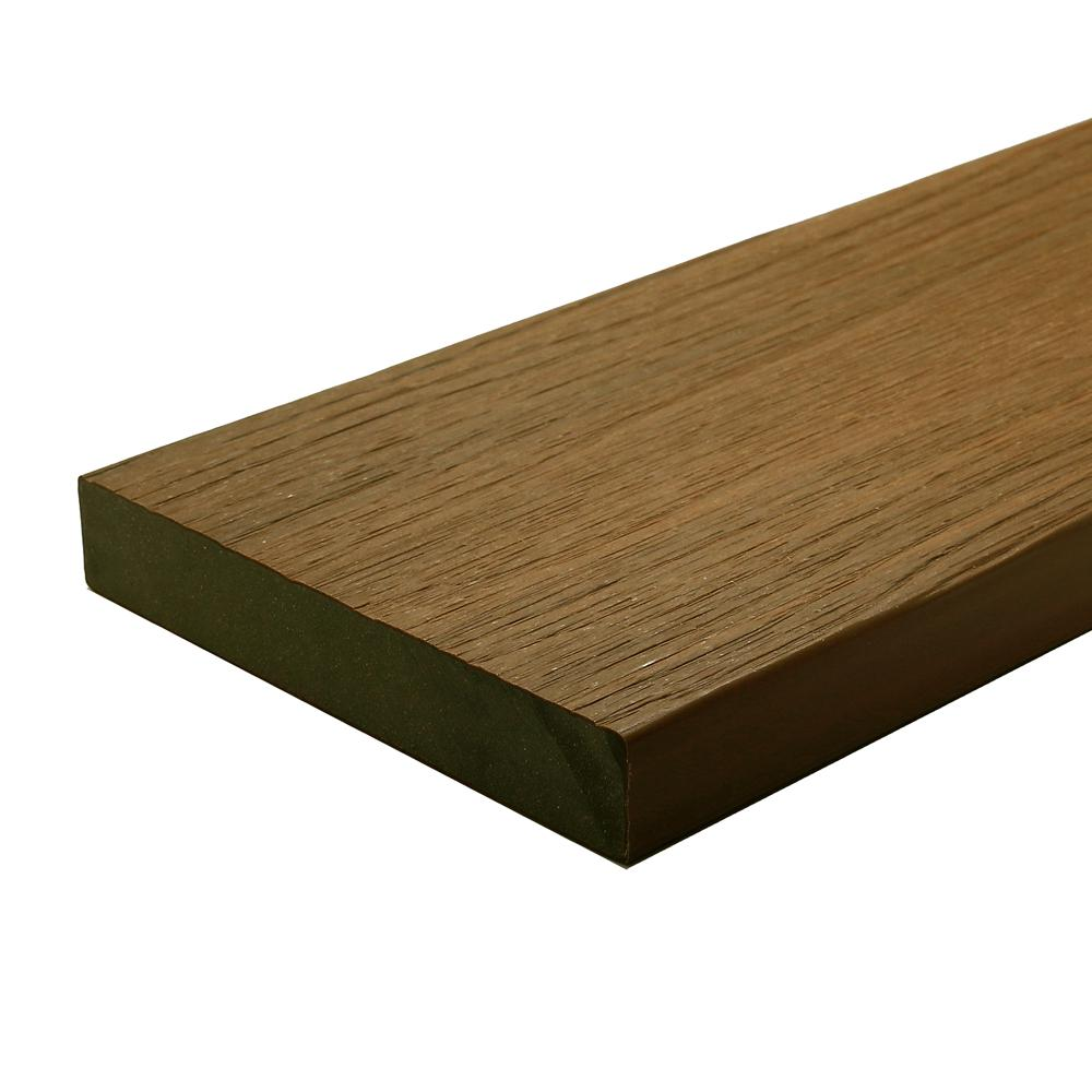 NewTechWood UltraShield Naturale Cortes 1 in. x 6 in. x 4 ft. Peruvian Teak Solid Composite Decking Board