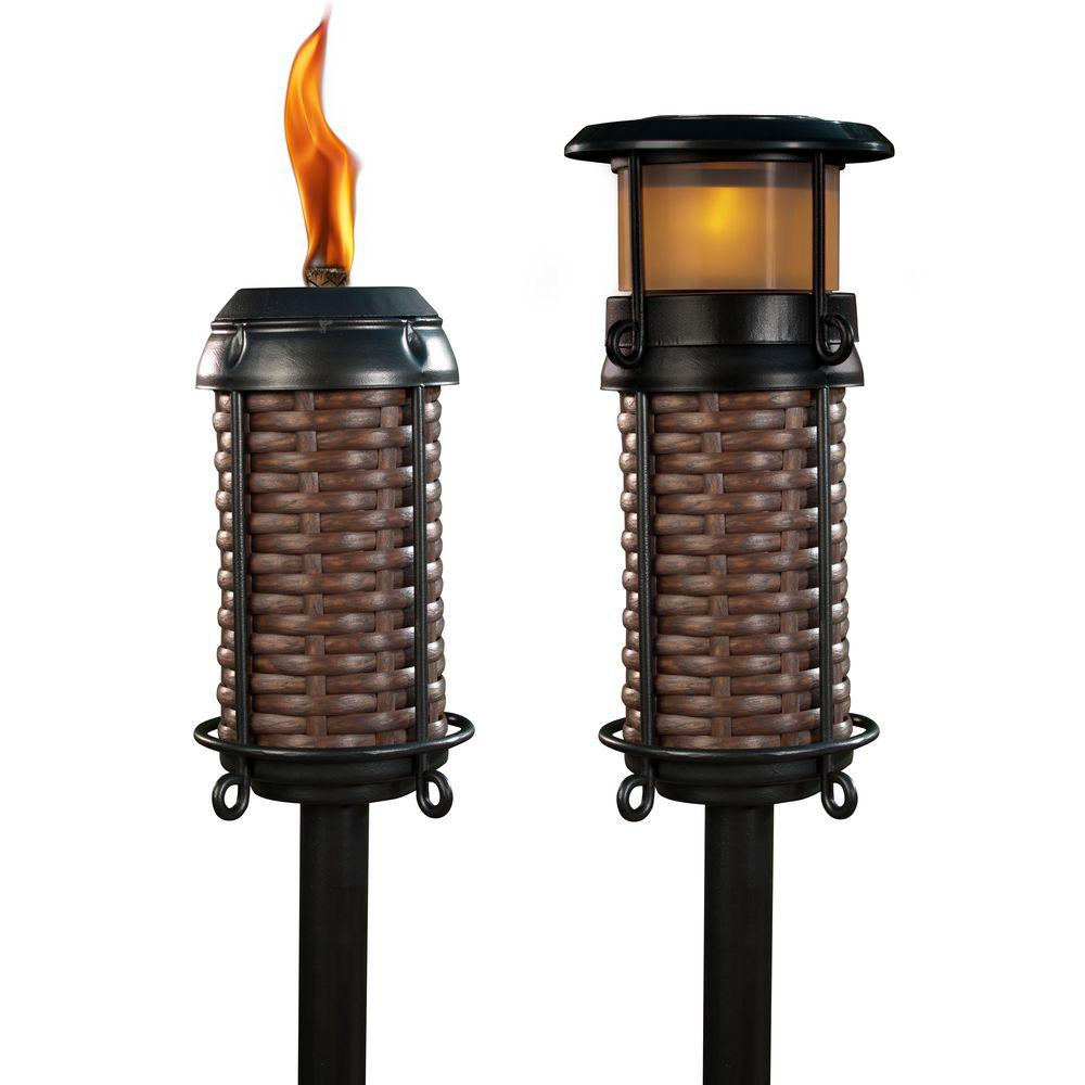 TIKI Flame and Solar Resin Weave Torch