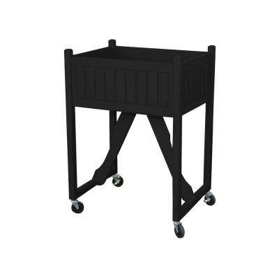 27 in. x 20 in. Black Recycled Plastic Commercial Grade Raised Garden Bed