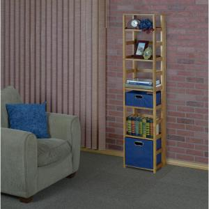 flip flop medium oak 6shelf square folding bookcase