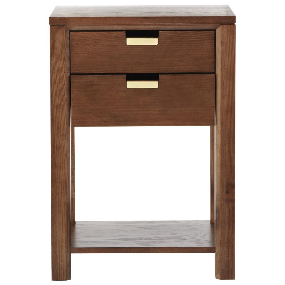 Riley 30 in. H Warm Chestnut Side Table
