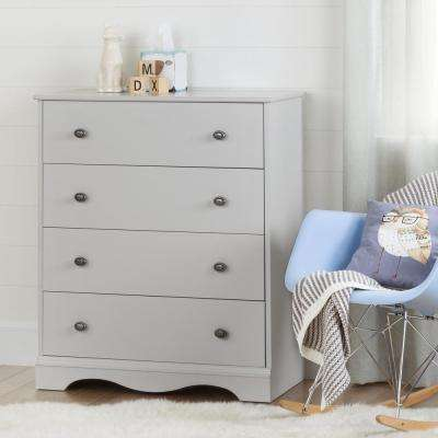 Angel 4-Drawer Soft Gray Chest