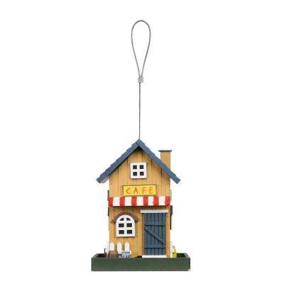9 in. Tall Hanging Caf Bird Feeder