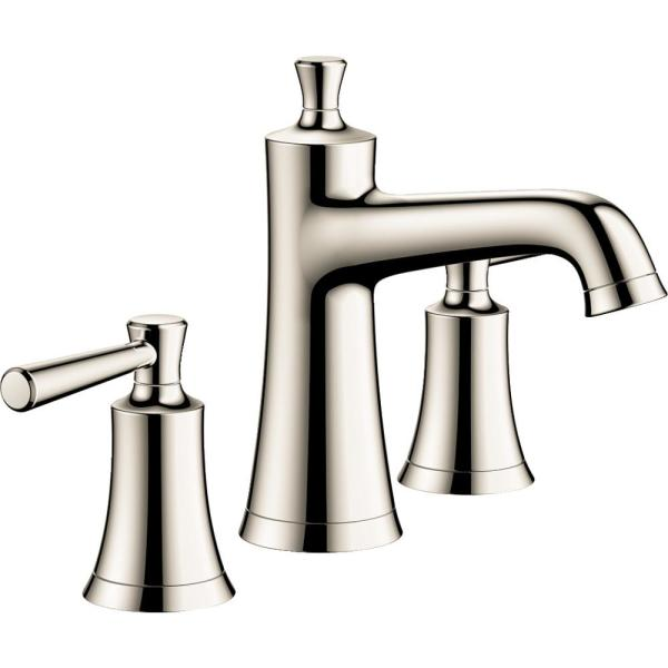 Joleena 8 in. Widespread 2-Handle Bathroom Faucet with Drain Assembly in Polished Nickel