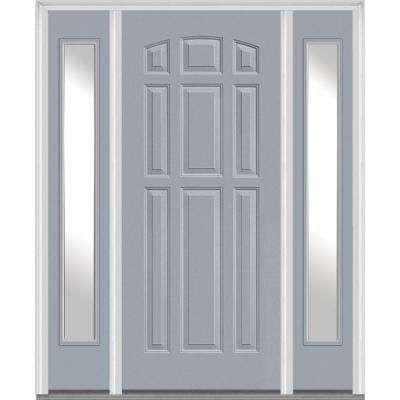 60 X 80 Gray Fiberglass Doors Front Doors The Home Depot