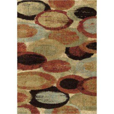 Bubbles Multi Geo Shag 5 ft. 3 in. x 7 ft. 6 in. Indoor Area Rug