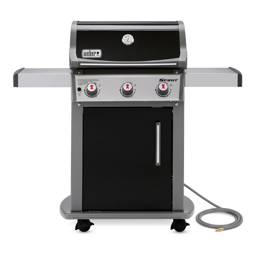 weber spirit e 310 3 burner natural gas grill in black. Black Bedroom Furniture Sets. Home Design Ideas
