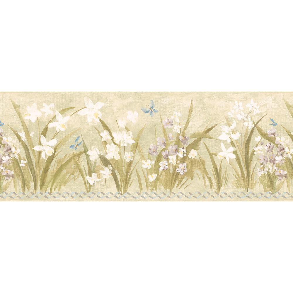 Butterfly Meadow Wallpaper Border-499-3034 - The Home Depot