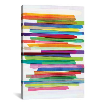 """""""Colorful Stripes I"""" by Mareike Bhmer Canvas Wall Art"""
