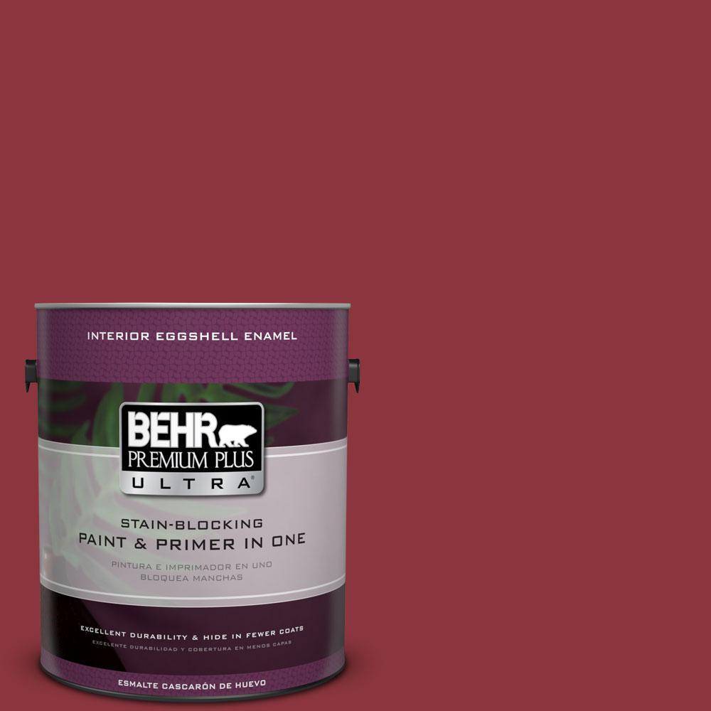 BEHR Premium Plus Ultra 1-gal. #S-G-140 Cherry Cobbler Eggshell Enamel Interior Paint