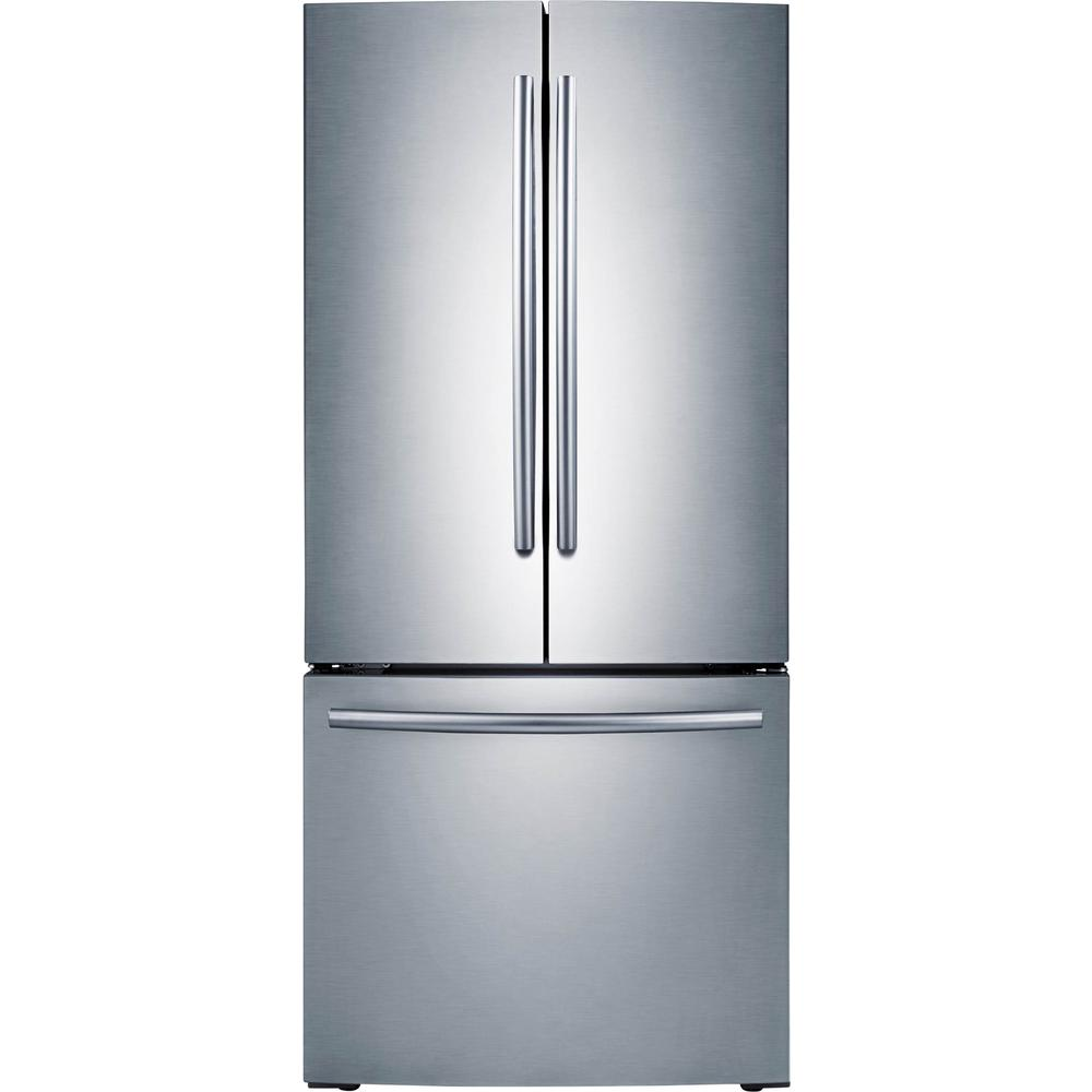 Samsung 30 in  W 21 8 cu  ft  French Door Refrigerator in Stainless Steel
