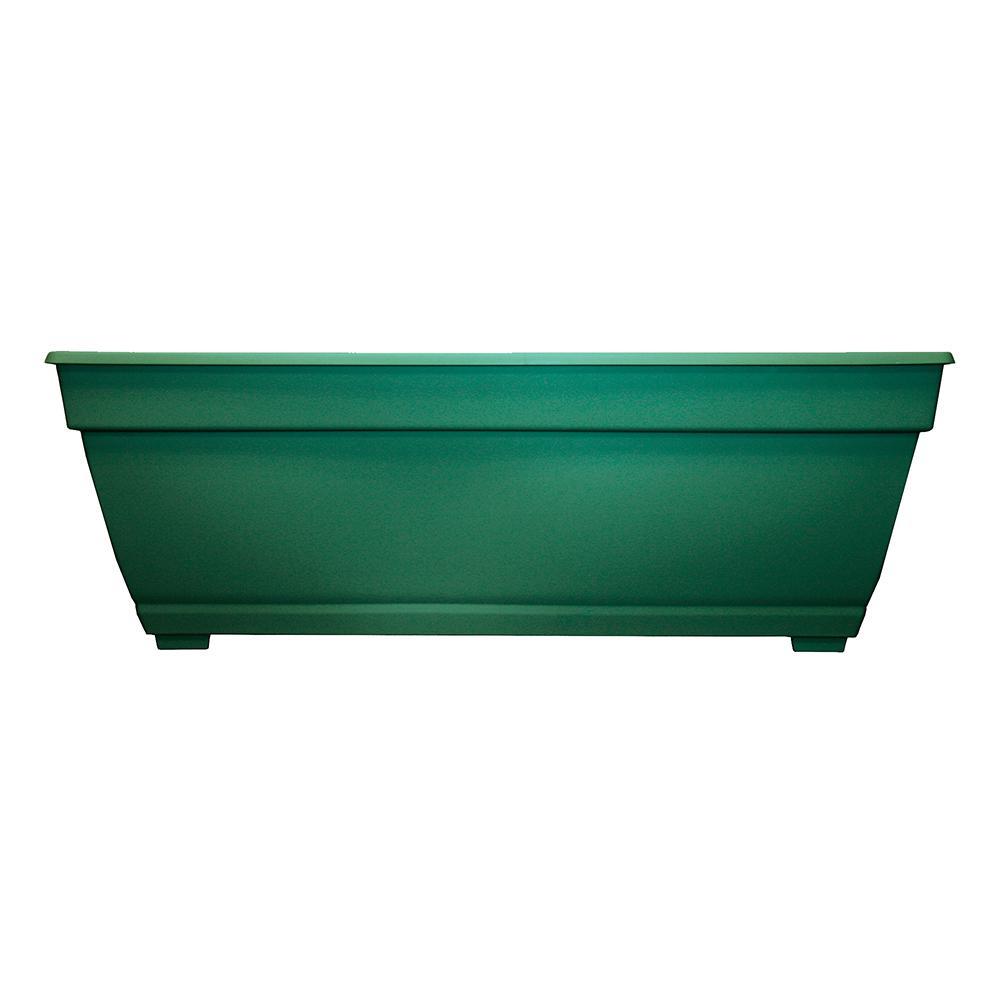 Dynamic Design Newbury 12 in. x 27 in. Cadmium Green Plastic Deck Box