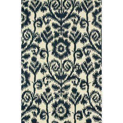 Taylor Lifestyle Collection Navy/Ivory 3 ft. 6 in. x 5 ft. 6 in. Area Rug