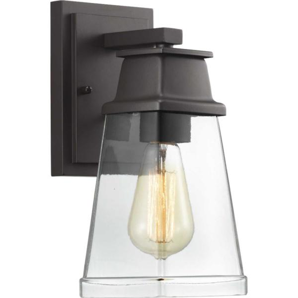 Greene Ridge Small 1-Light Architectural Bronze Outdoor Wall Lantern