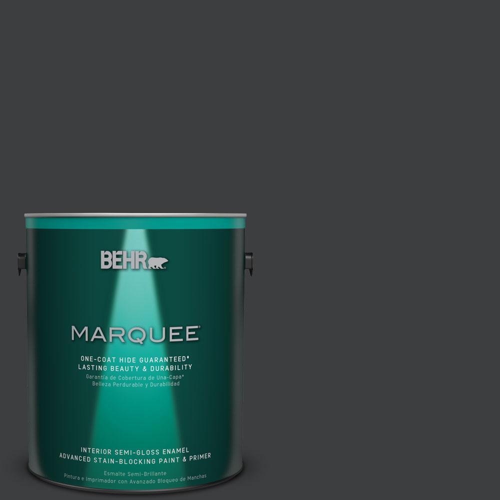 Beau BEHR MARQUEE 1 Gal. #N520 7 Carbon Semi Gloss Enamel Interior Paint