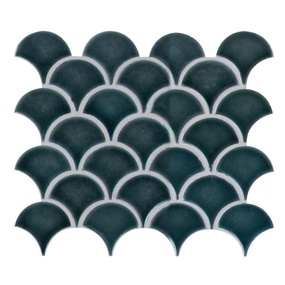Msi Azul Scallop Glossy 13 11 In X 9