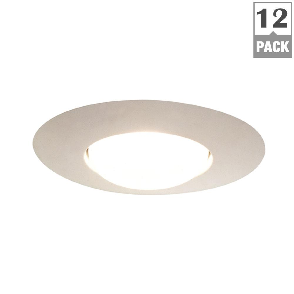 301 Series 6 in. White Recessed Ceiling Light Open Splay Trim