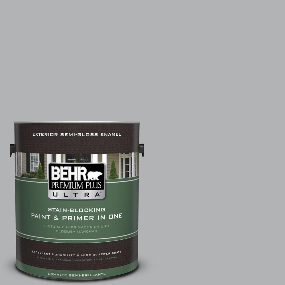 BEHR Premium Plus Ultra 1-gal. #770E-3 Pewter Mug Semi-Gloss Enamel Exterior Paint