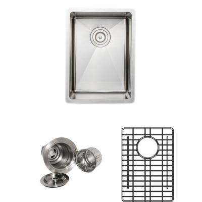 The Chefs Series Undermount 13 in. Stainless Steel Handmade Single Bowl Kitchen Sink Package