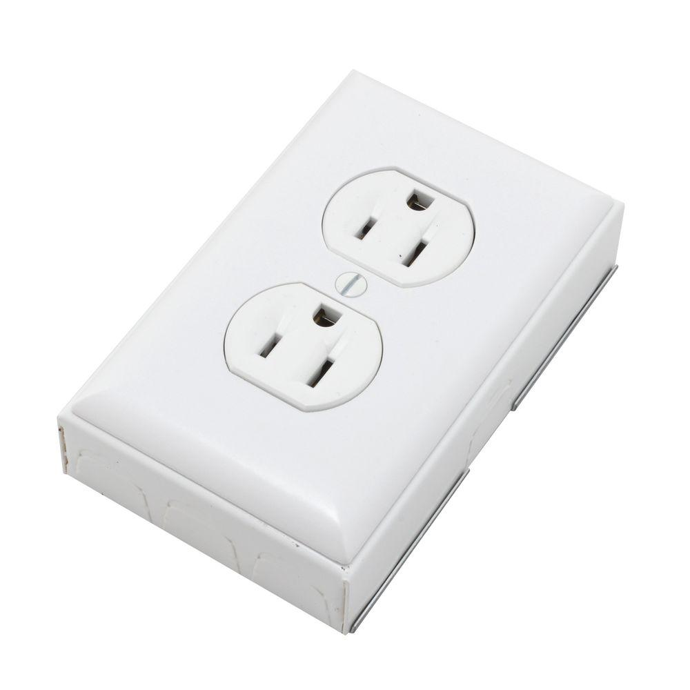 700 Series Metal Surface Raceway Duplex Receptacle Kit, White