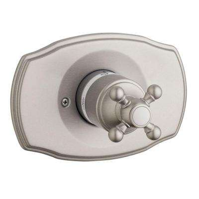 Geneva Cross Single Handle Pressure Balance Valve Trim Kit in Brushed Nickel (Valve Sold Separately)