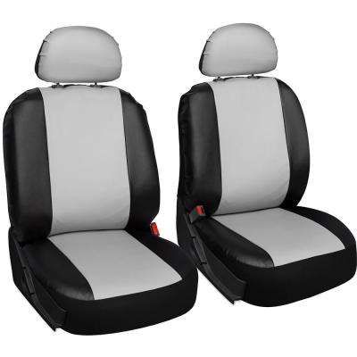 Polyurethane Seat Covers 21.5 in. L x 21 in. W x 31 in. H Seat Cover Set White and Black (6-Piece)