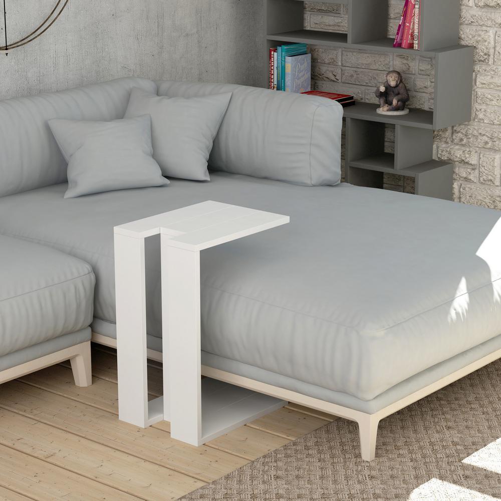 Stanley White Modern Side Table