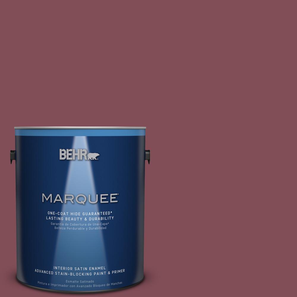 1 gal. #HDC-SP14-11 Rouge Charm Satin Enamel Interior Paint