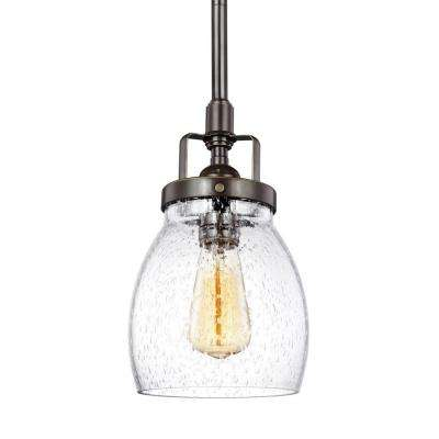 Belton 5.375 in. W. 1-Light Heirloom Bronze Mini Pendant