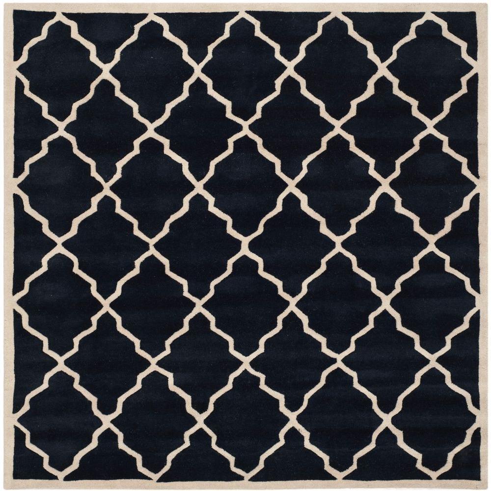 Chatham Dark Blue 7 ft. x 7 ft. Square Area Rug