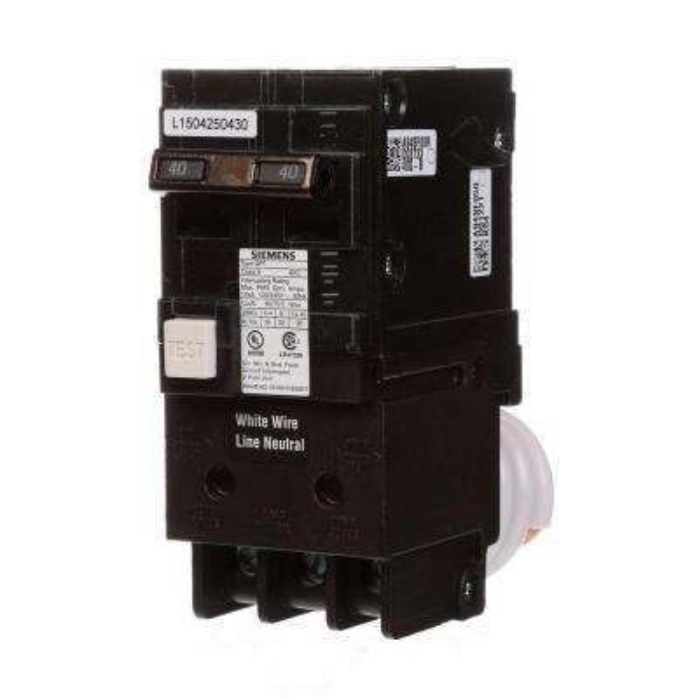 40 Amp Double Pole Type QPF GFCI Circuit Breaker