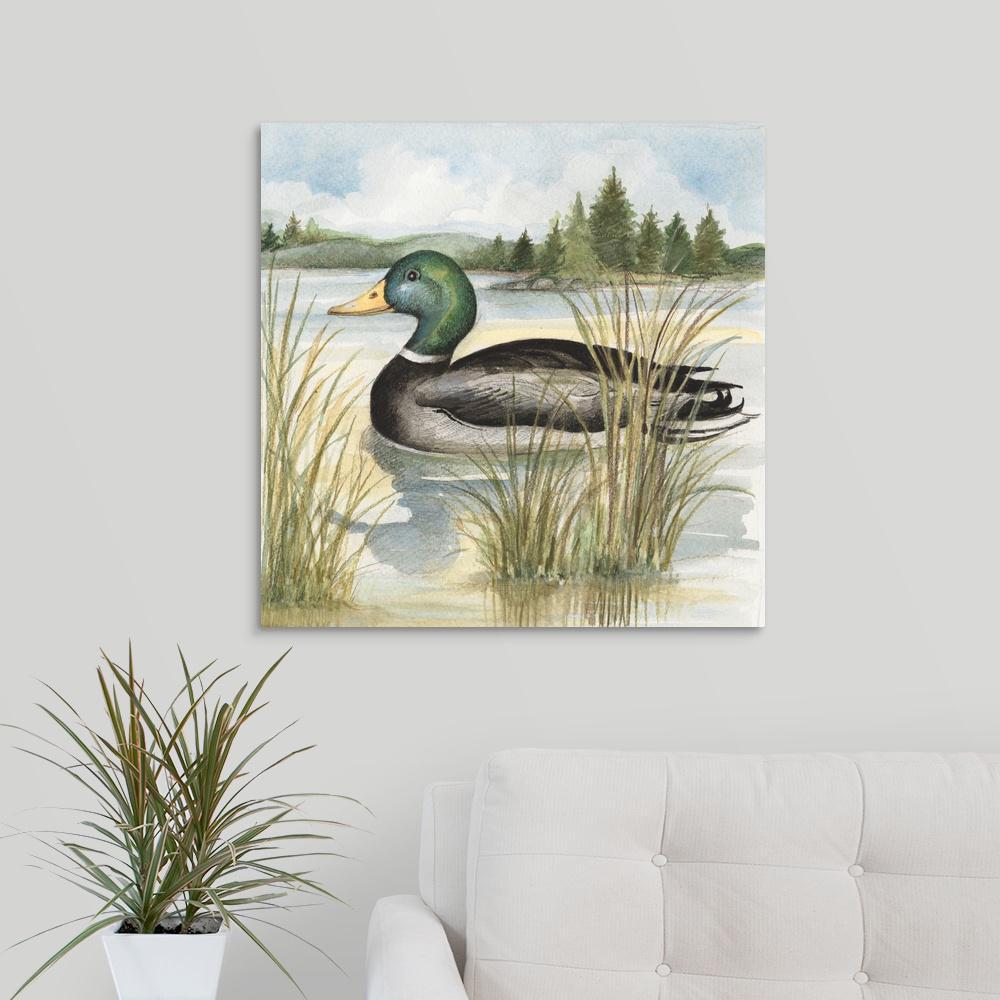 """24 in. x 24 in. """"Mallard"""" by  Susan Winget Canvas Wall Art"""