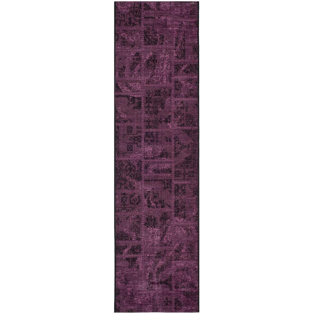 Safavieh Palazzo Black Purple 2 Ft X 7 Runner Rug