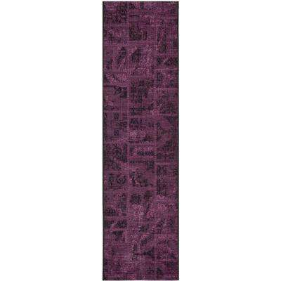 palazzo blackpurple 2 ft x 7 ft 3 in runner