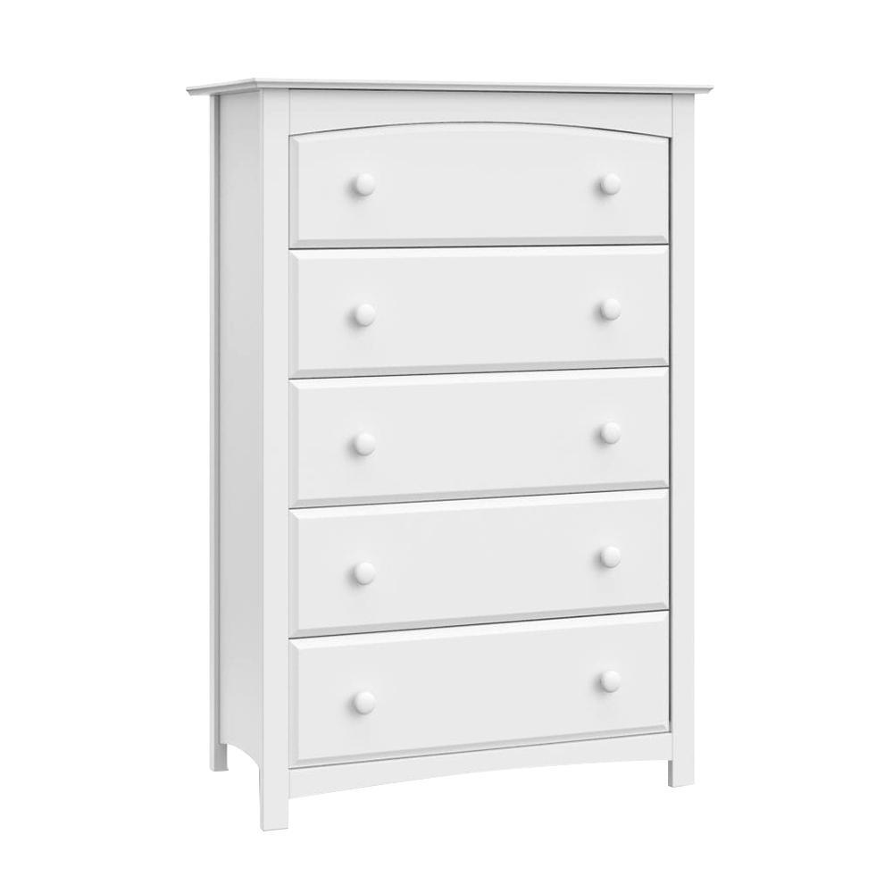 Kenton 5-Drawer White Dresser