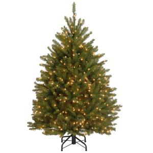 4.5 ft. Dunhill Fir Artificial Christmas Tree with 450 Clear Lights by