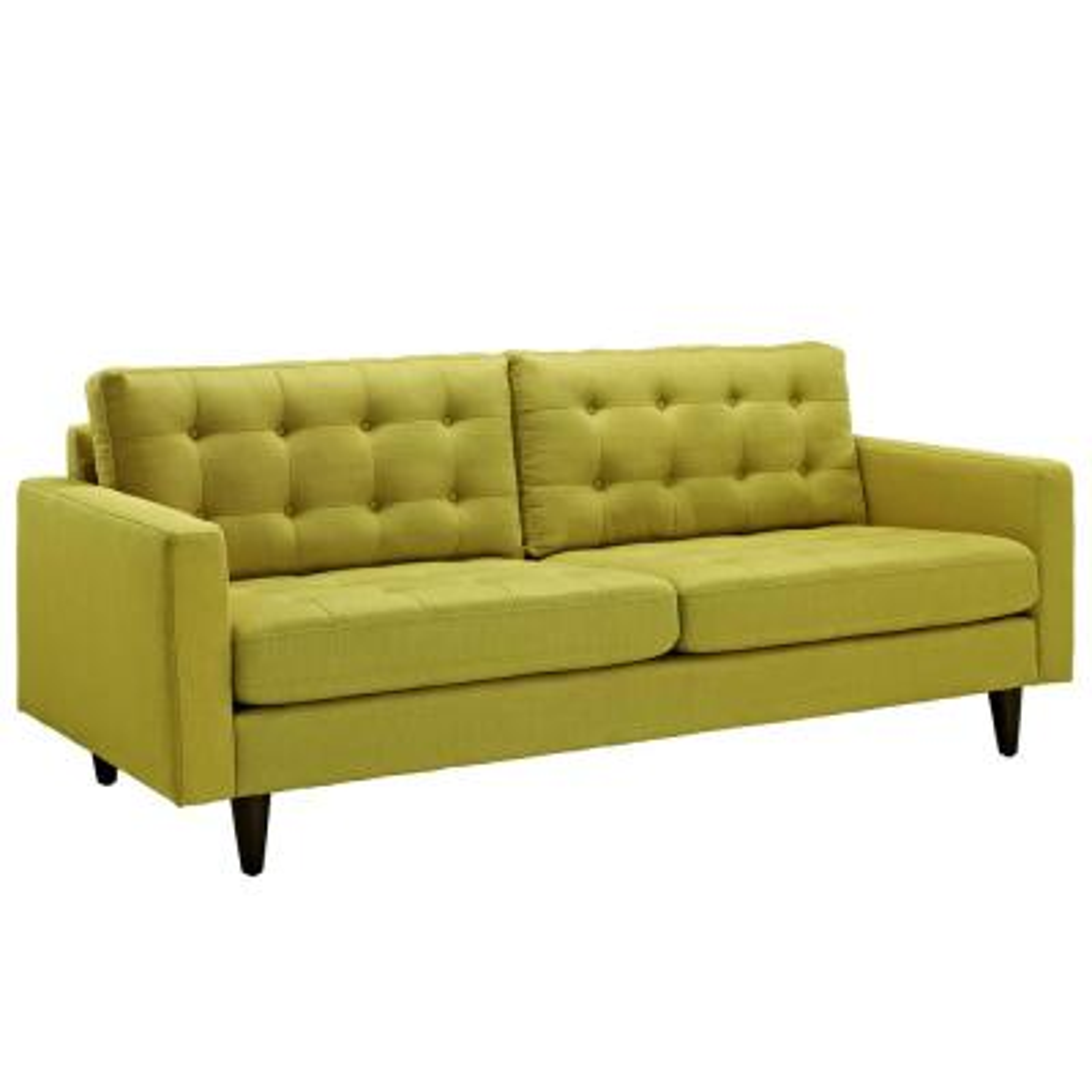 Empress Wheatgrass Upholstered Fabric Sofa