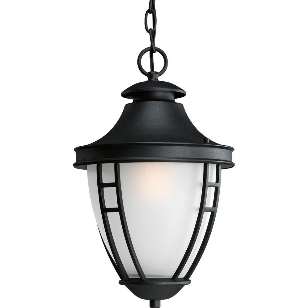 Fairview Collection 1-Light Black Outdoor Hanging Lantern