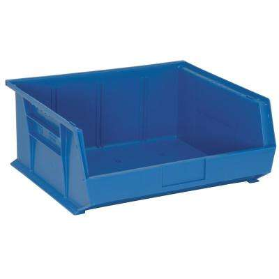 Ultra Series Stack and Hang 8.9 Gal. Storage Bin in Blue (6-Pack)