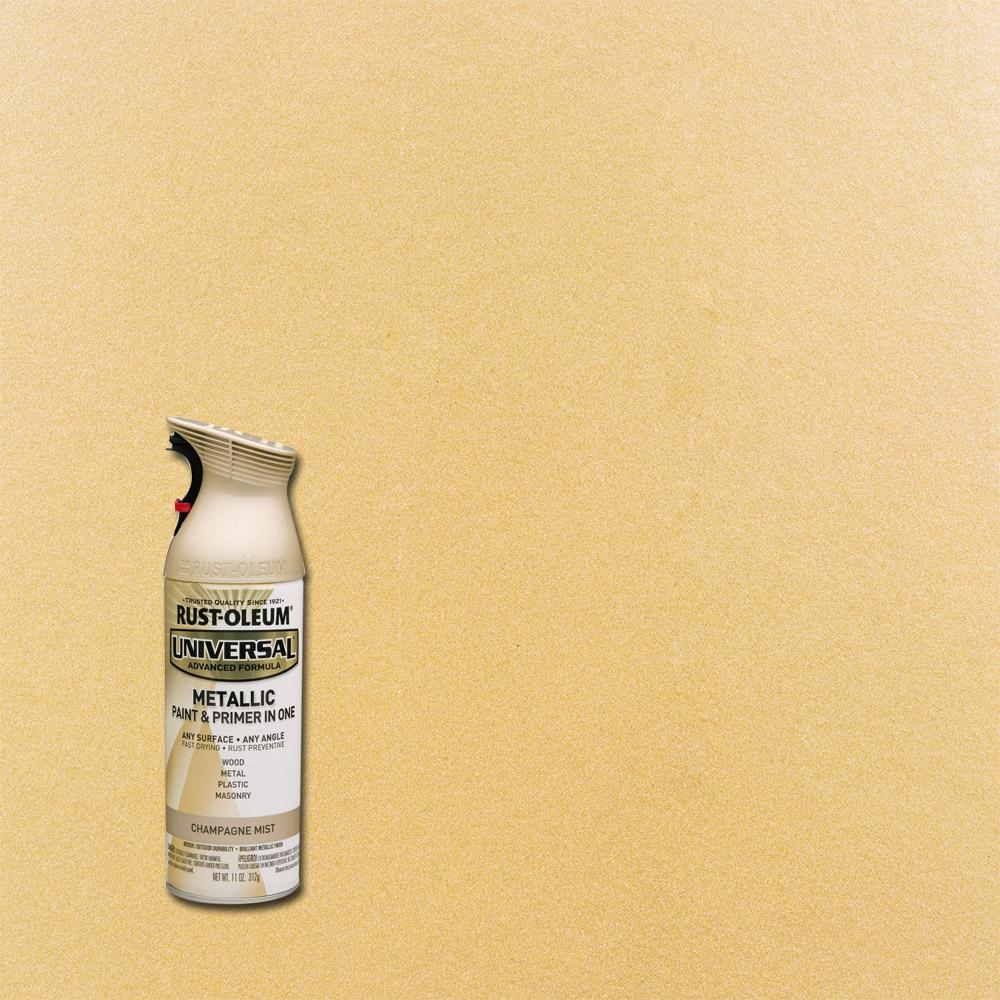 All Surface Metallic Champagne Mist Spray Paint And Primer In One 261415 The Home Depot